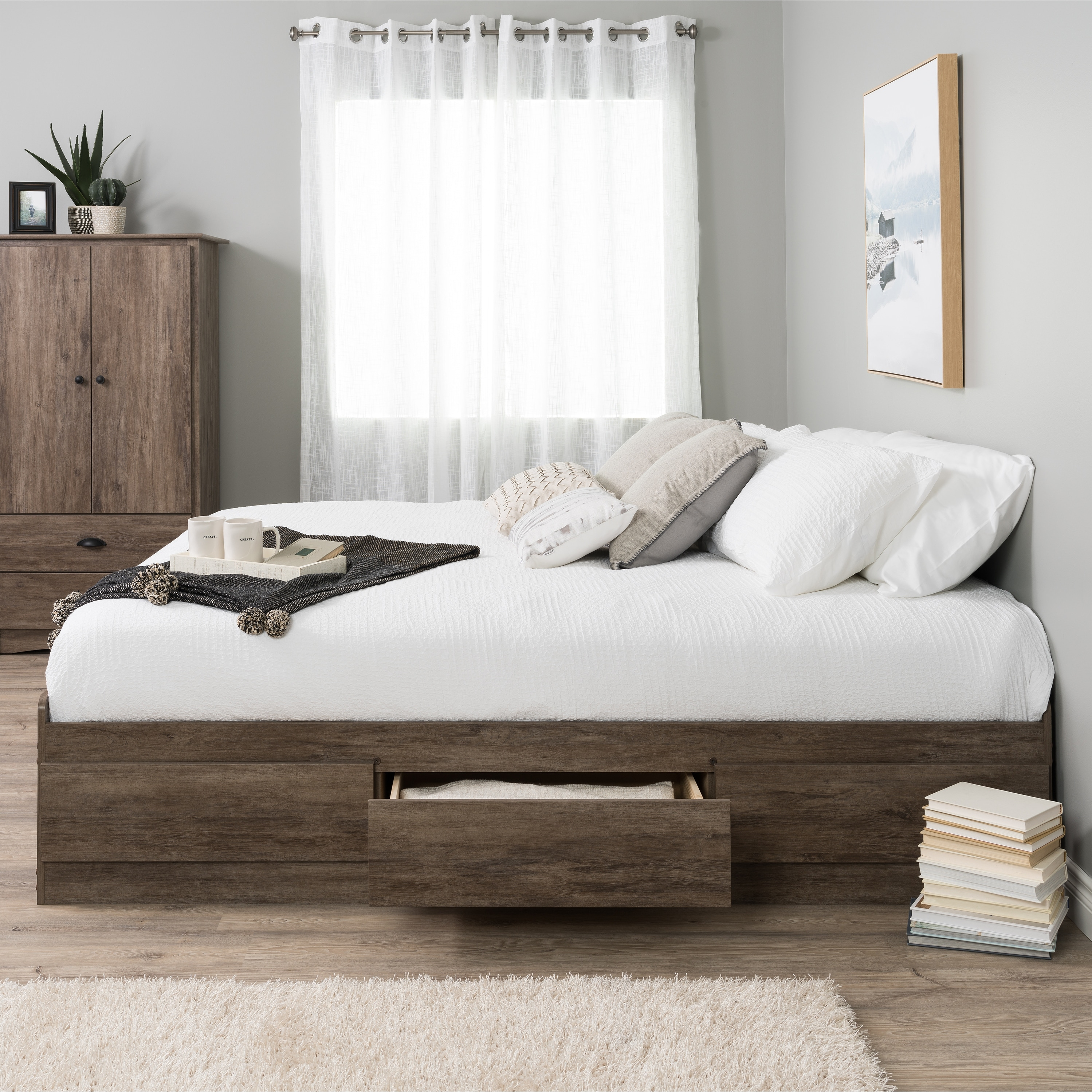 Shop Prepac Mate S Platform Storage Bed With 6 Drawers On Sale Overstock 2460975