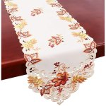 Grelucgo Elegant Thanksgiving Holiday Table Runner Embroidered Maple Leaves Fall Table Linen 15 By 70 Inch On Sale Overstock 29626853
