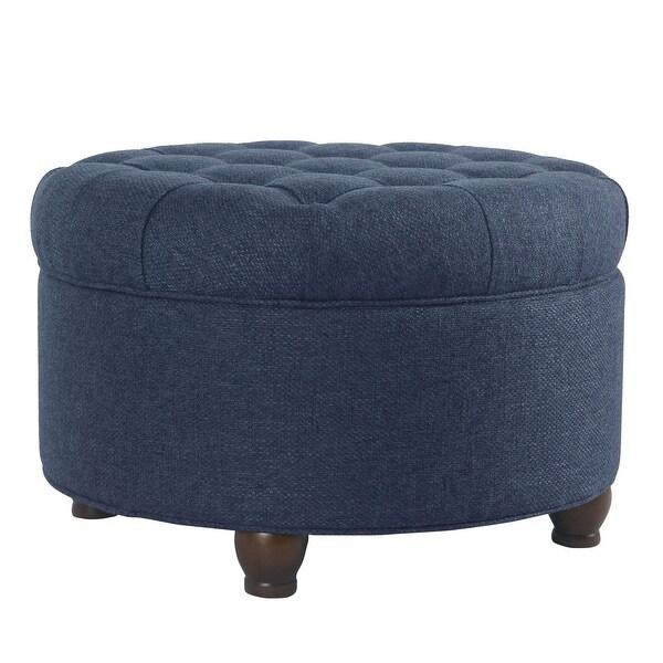 homepop large tufted round storage