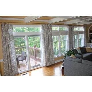 20 foot patio door curtain rod 240