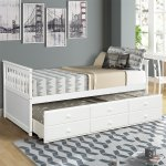 Shop Harper Bright Designs Twin Captain S Bed Twin Daybed With Trundle Bed And Storage Drawers On Sale Overstock 32159260