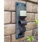 Farmhouse Rustic Wood Candle Wall Sconce Set Of 2 Overstock 32038353