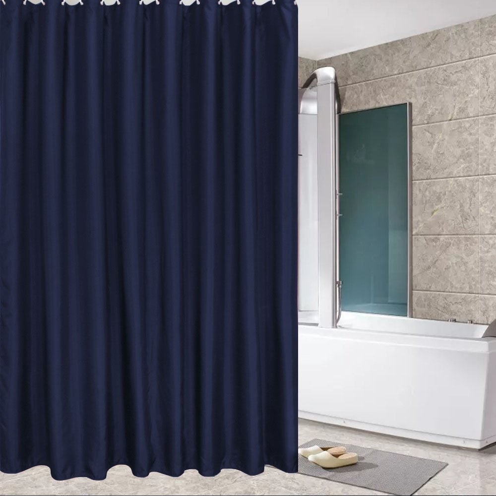 fabric shower curtain mildew resistant and waterproof shower curtain