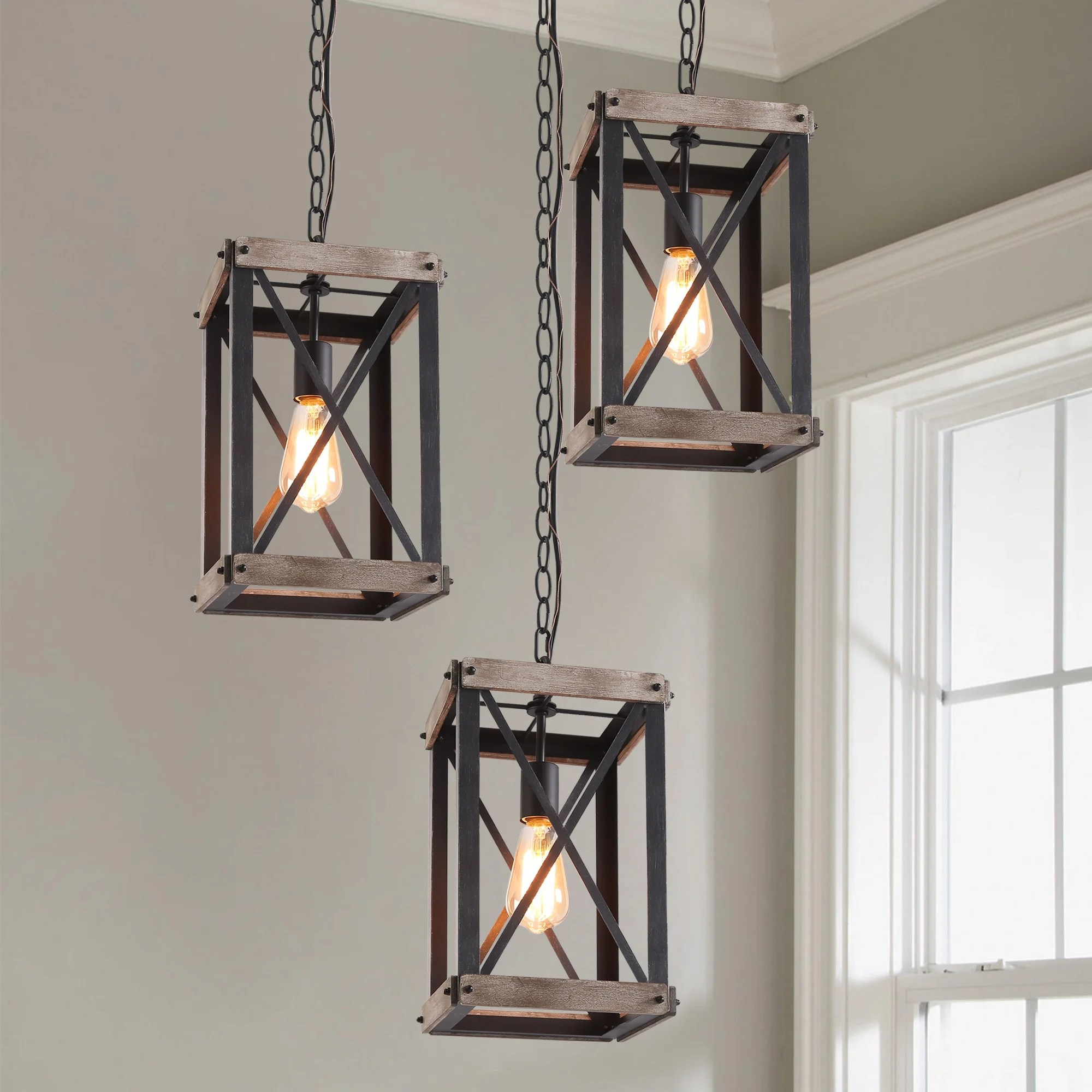 lnc 1 light foyer pendant lights rustic hanging lantern chandeliers