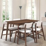 Gymax 5 Pcs Mid Century Modern Dining Table Set Kitchen Table 4 Upholstered Chairs Overstock 26390109