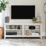 Porch Den Dexter 58 Inch White Wash Tv Stand Console Overstock 20640396