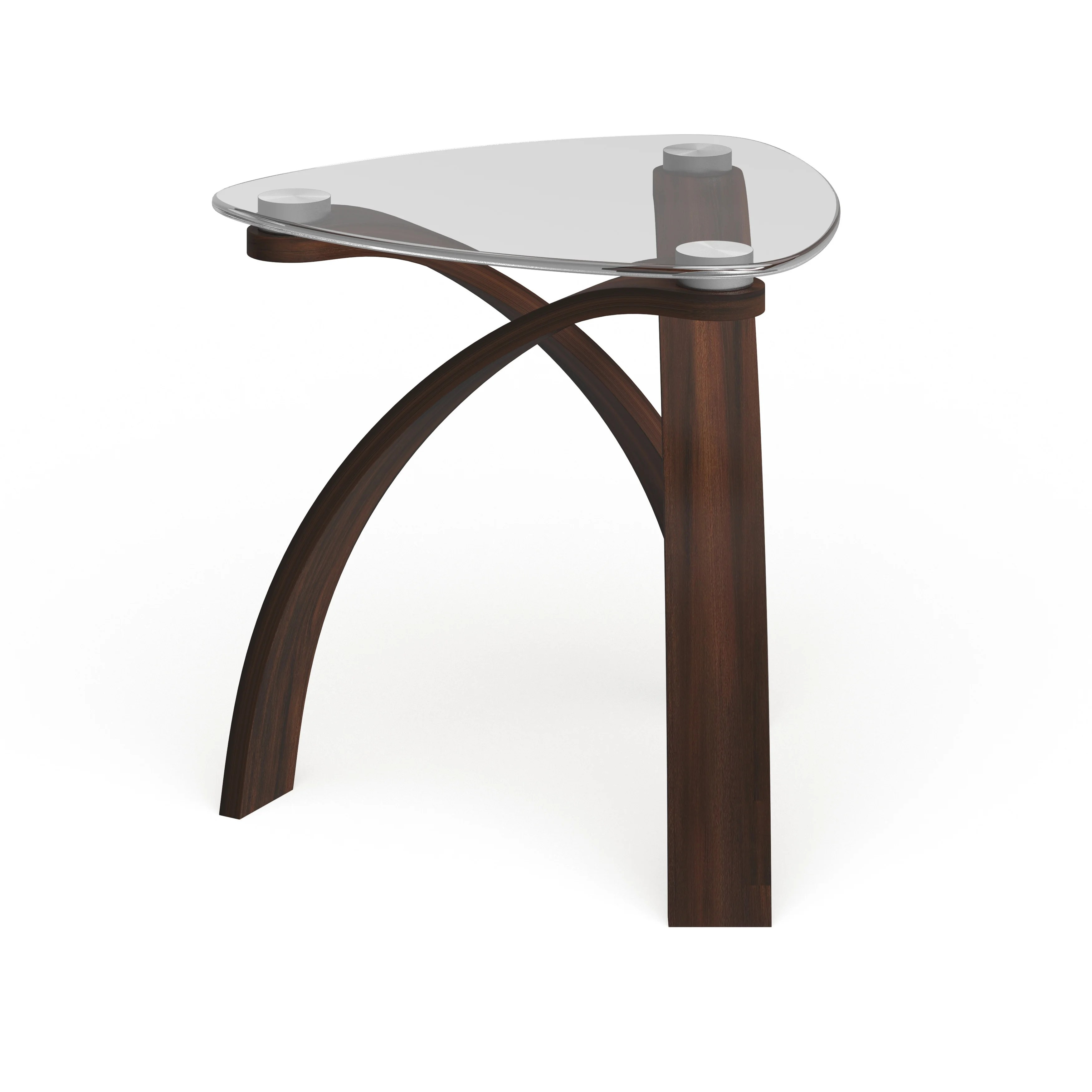 strick bolton ascott modern glass top arch legged end table