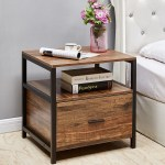 Vecelo Square Nightstand Bedside Table End Table Coffee Table Brown Overstock 27296226