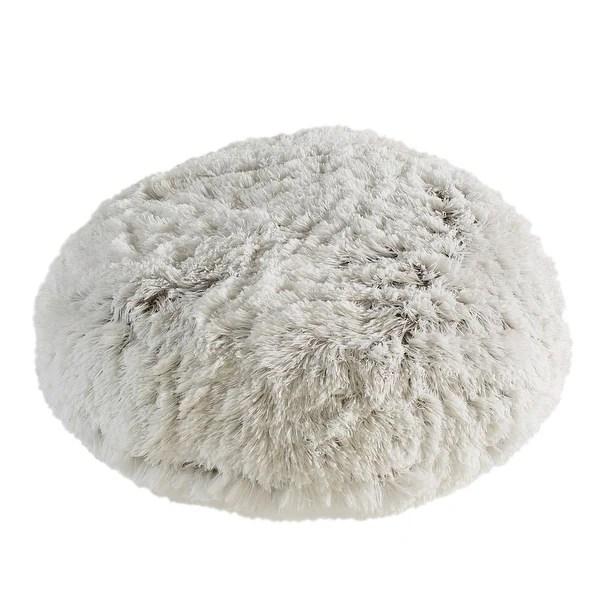 oversized faux fur round floor cushion