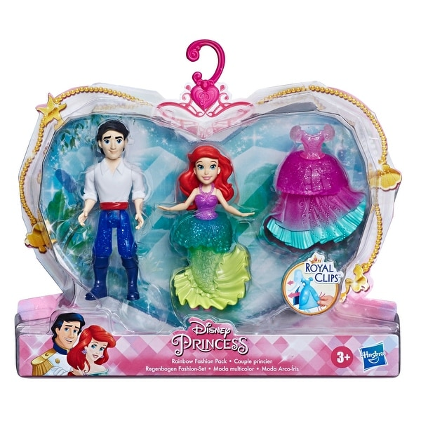 Shop Disney Princess Ariel And Prince Eric Collectible Small Doll Royal Clips Fashion Toys With Extra Dress Overstock 30693137