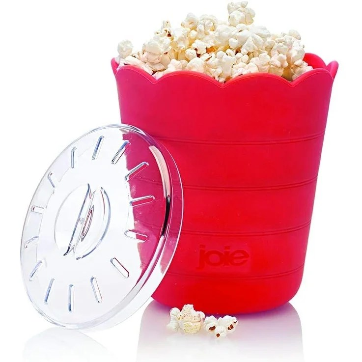 joie pop up silicone bowl microwave popcorn maker