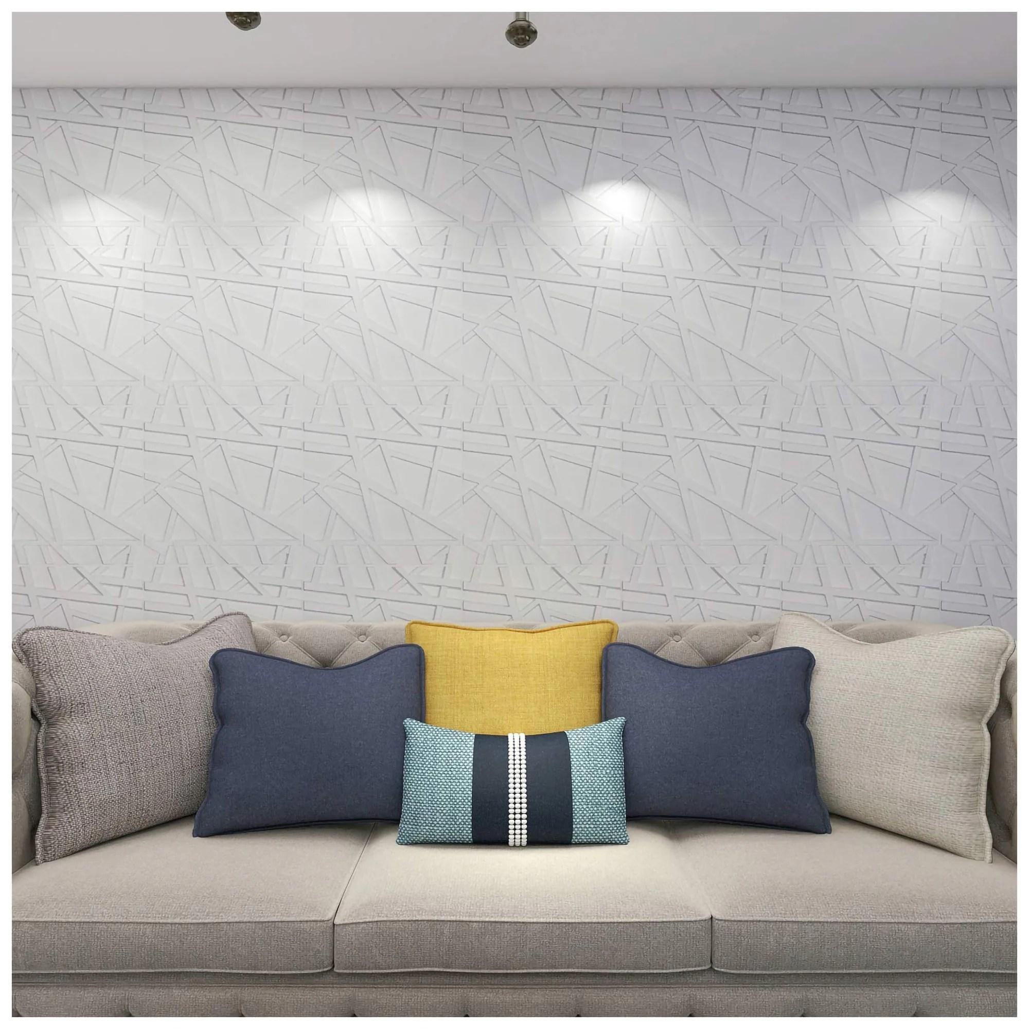 Art11d 11D Wall Panels PVC Crossing Lines Design (112 Sq.Ft)