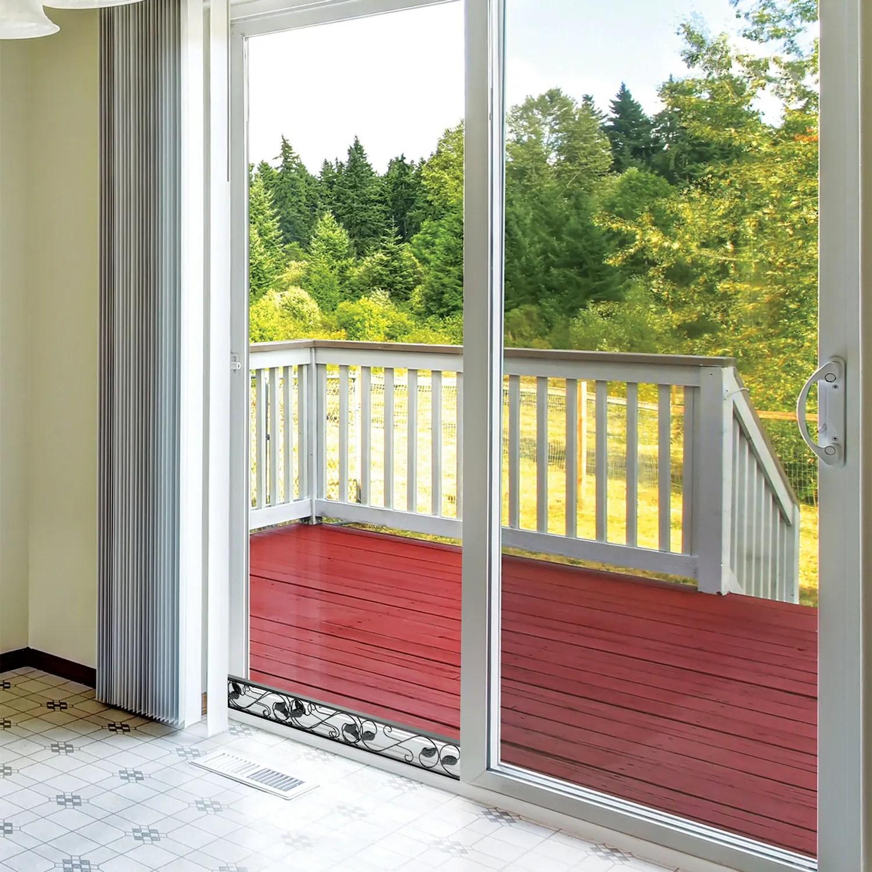 sliding door security bar adjustable black glass patio door jammer door stopper blocker fits in track to prevent opening