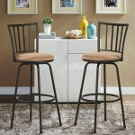 Vecelo Set Of 2 Round Seat Bar Counter Height Adjustable Metal Bar Stool Overstock 30655860
