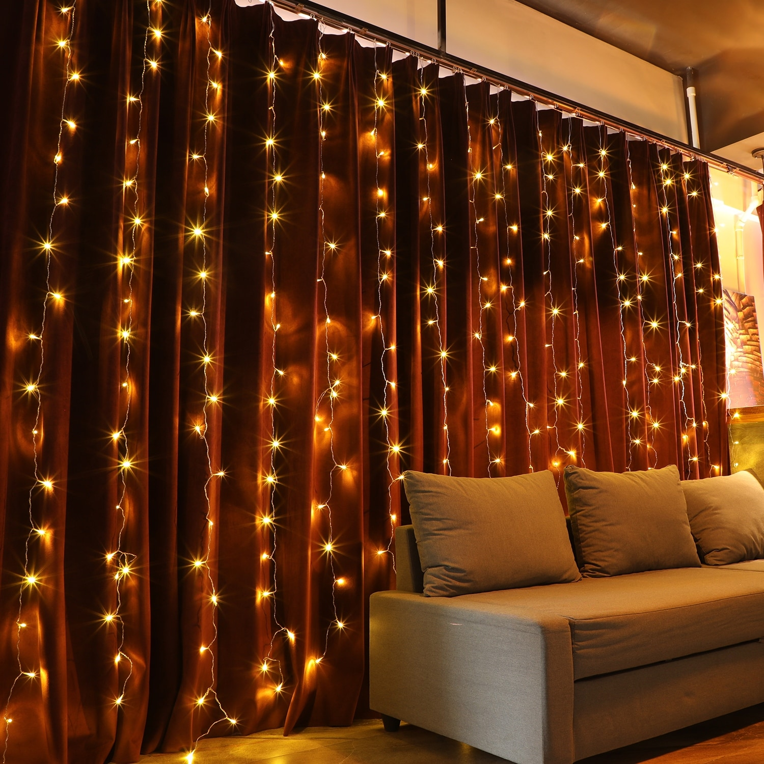 320 leds christmas window curtain string lights 8 modes