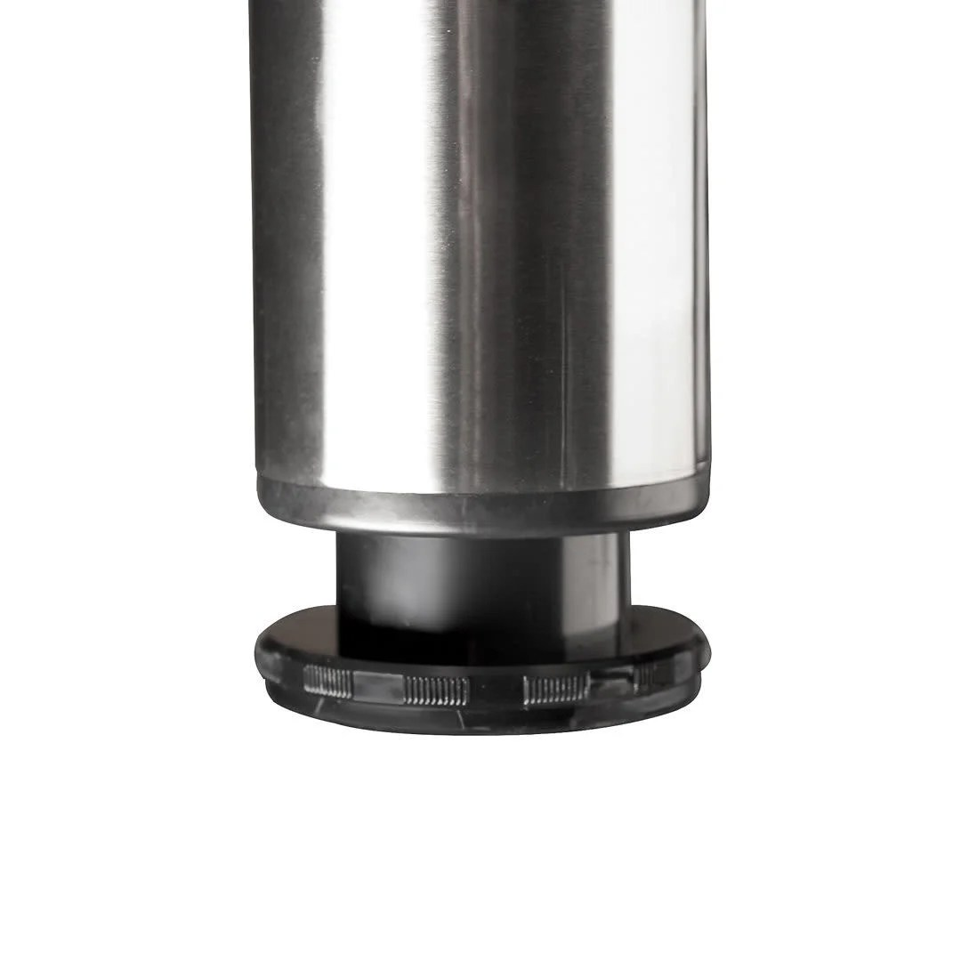 richelieu 620870 34 1 4 tall round metal table leg with adjustable height single brushed nickel
