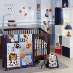 Lambs Ivy Future All Star Blue Gray White Animal Sports Nursery 4 Piece Baby Crib Bedding Set Overstock 23484771