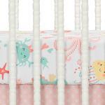 Shop Bedtime Originals Ocean Mist 3 Piece Pink Gray Yellow Baby Crib Bedding Set Overstock 30240909