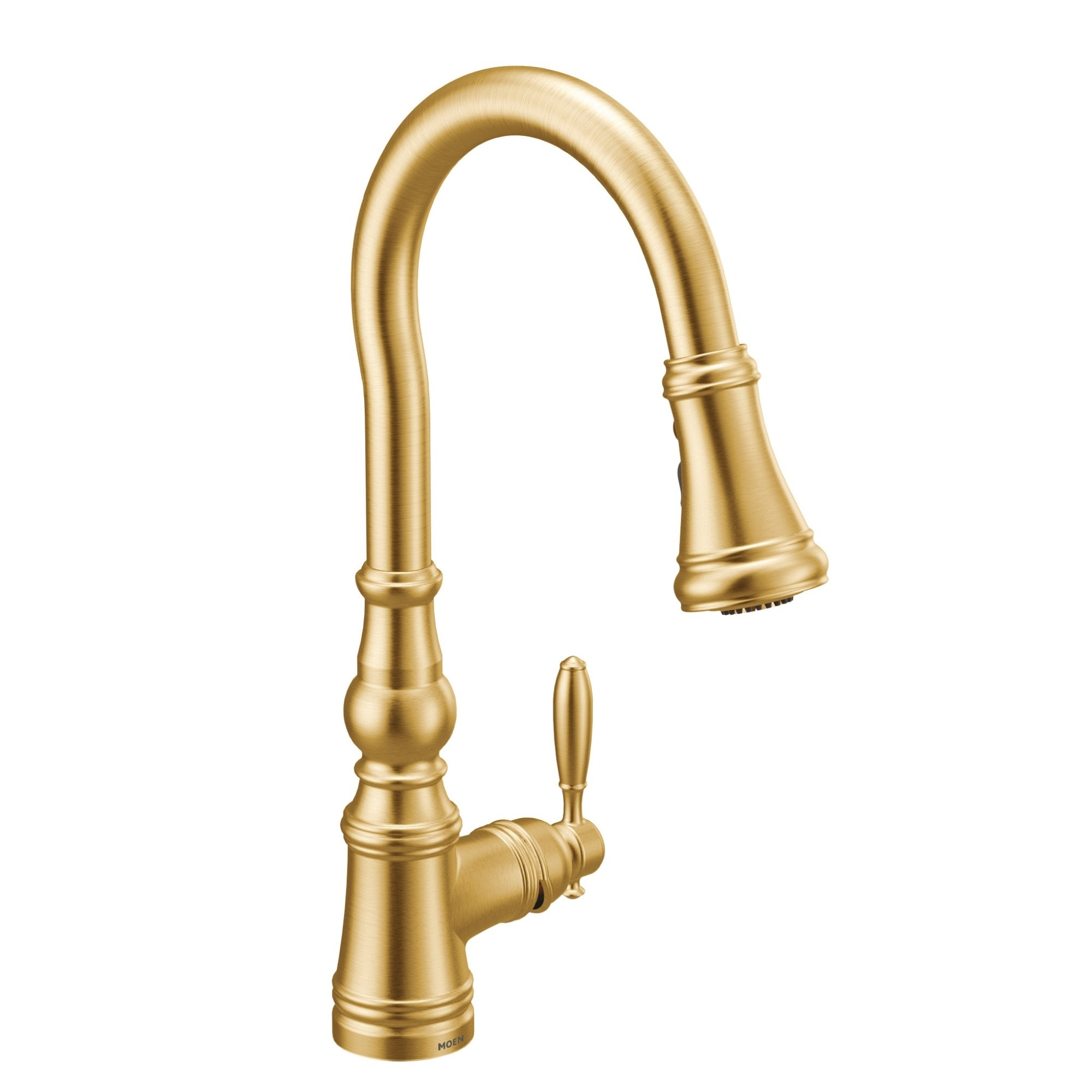 moen one handle pulldown kitchen faucet brushed gold s73004bg