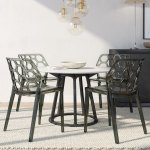 Leisuremod Cove Modern Honeycomb Lucite Dining Side Chair Set Of 4 Overstock 8930644