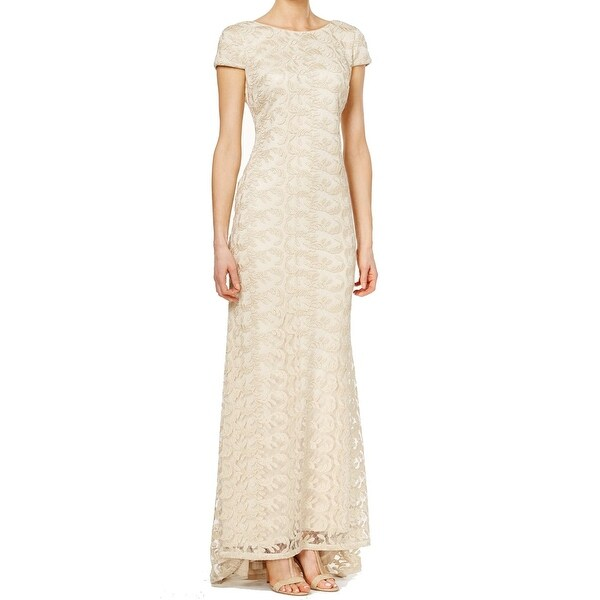 Shop Calvin Klein New Gold Women S Size 8 Lace Sheath High