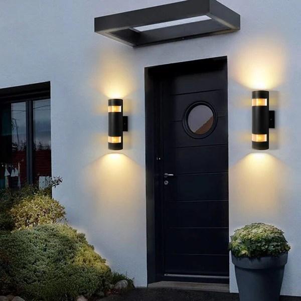 2 light wall sconce modern outdoor