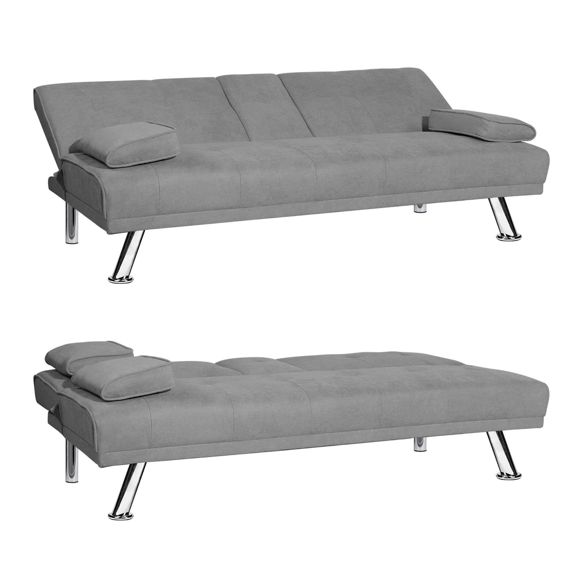 Modern Armless Fabric Sleeper Sofa Overstock 31881373