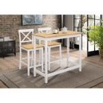 Shop Traditional 3 Piece Pub Table Set Overstock 28454186