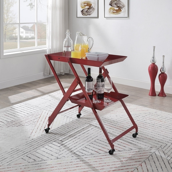 red kitchen carts online at overstock