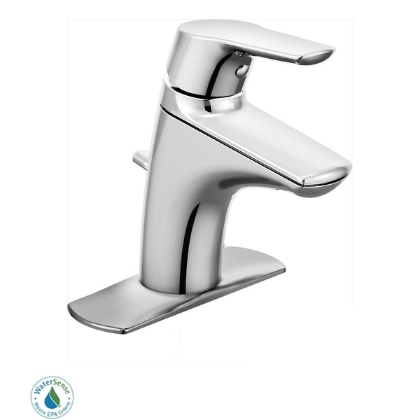 moen 66810 single handle single hole bathroom faucet with from the chrome