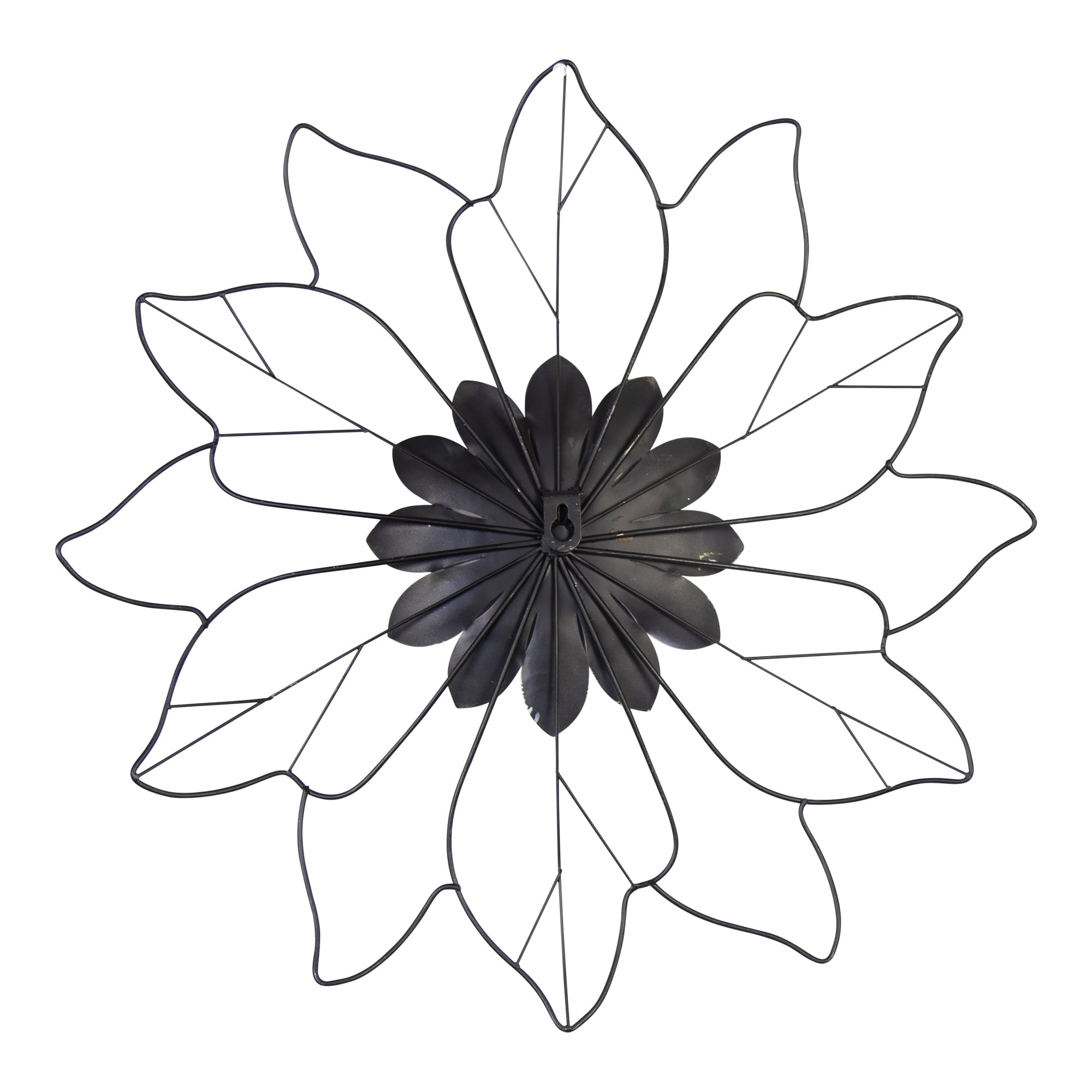 Shop Stratton Home Decor White Metal Outline Flower Wall Decor 16 50 X 1 25 X 16 25 On Sale Overstock 31945495