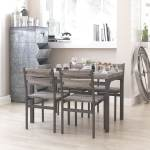 Zenvida 5 Piece Dining Set Rustic Grey Wooden Kitchen Table And 4 Chairs On Sale Overstock 21803691