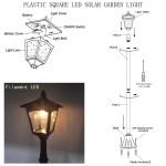 Kanstar 42 Mini Street Vintage Outdoor Garden Solar Lamp Post Light Lawn Adjustable Pack Of 1 Overstock 19738763