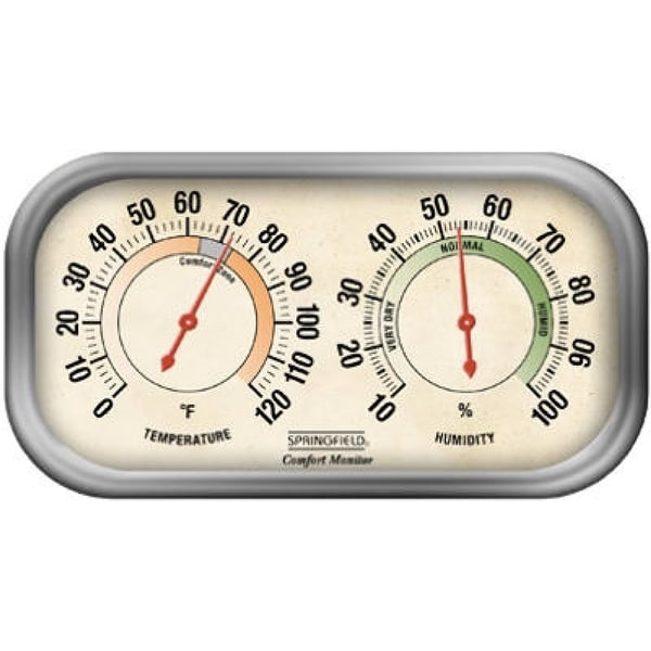 Shop Springfield 90113 1 Color Track Hygrometer Amp Thermometer Combo Free Shipping On Orders
