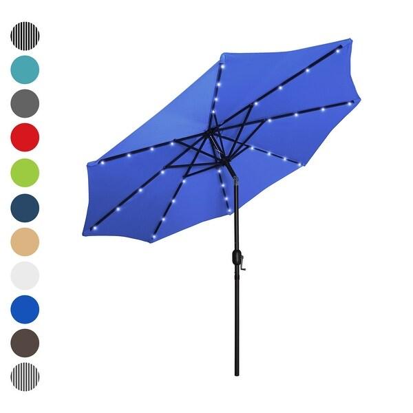 lighted patio umbrella with solar power