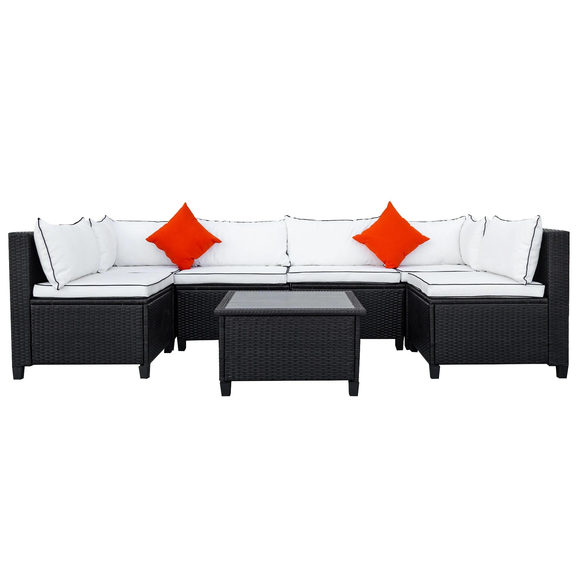 u shape quality rattan wicker sectional patio outdoor furniture set