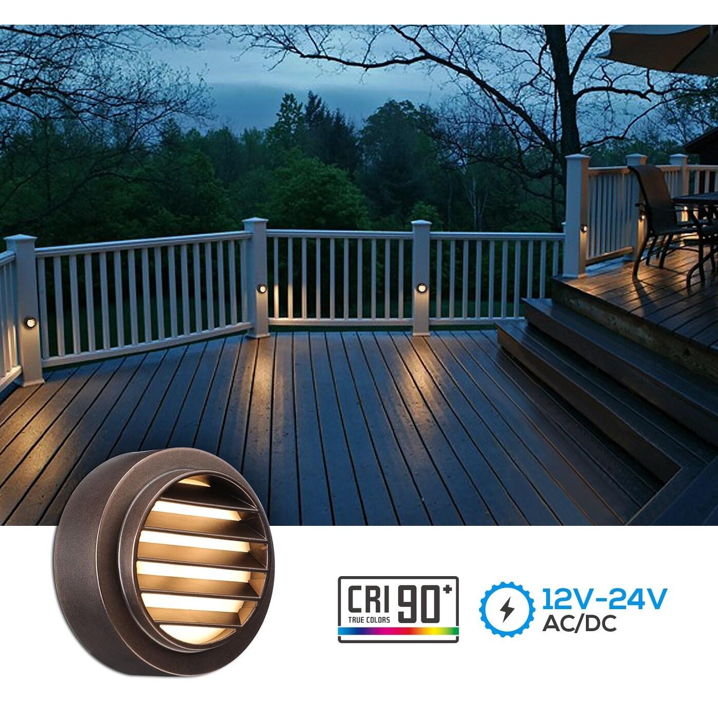 3 6 pack 3w led deck lights step lights oil rubbed bronze