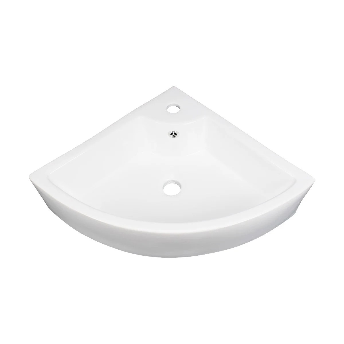 Shop Black Friday Deals On Small Bathroom Corner Sink Above Counter Angled Vessel Faucet Hole And Overflow Cream Overstock 12636470