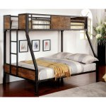 Furniture Of America Jown Industrial Black Metal Bunk Bed On Sale Overstock 11149560 Full Over Full