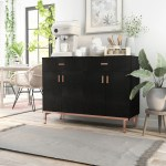 Shop Black Friday Deals On Furniture Of America Mason Modern Black Solid Wood Buffet On Sale Overstock 6330890