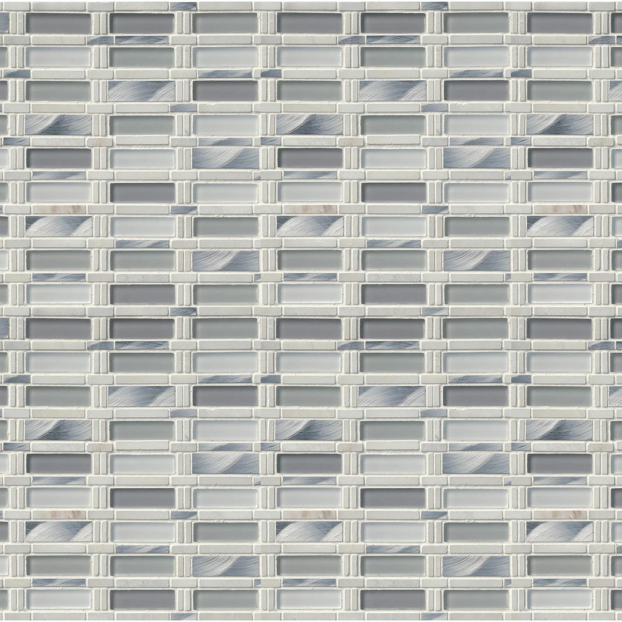 Shop Msi Smot Sglsmt 8mm Sj 12 X 12 Straight Joint Mosaic Sheet
