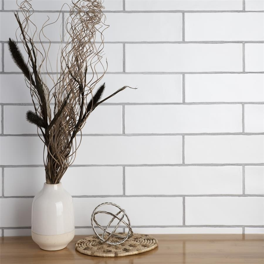 somertile 3x12 inch gloucester matte bianco ceramic wall tile
