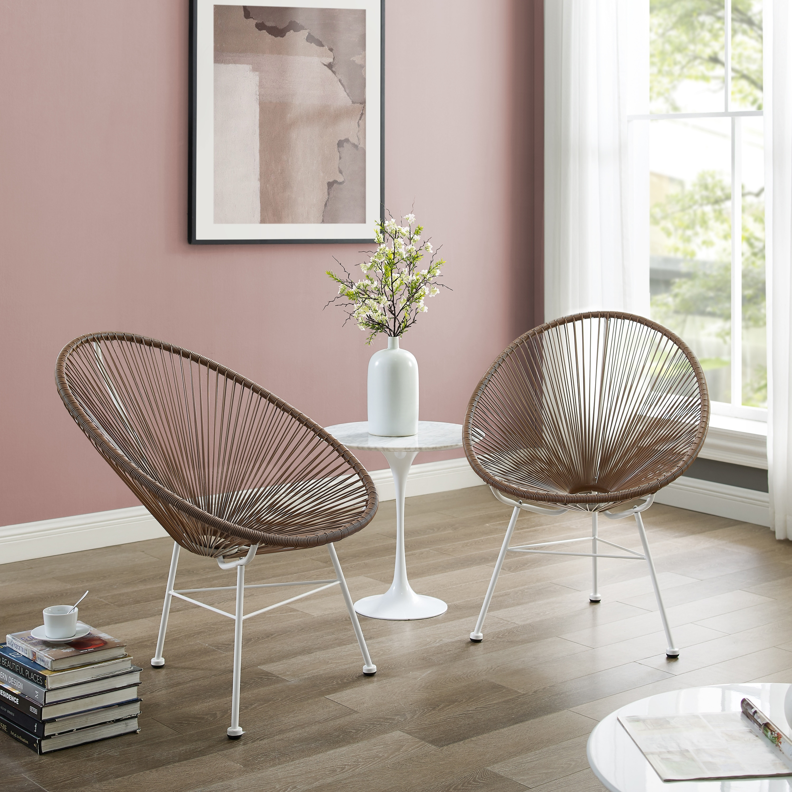 set of 2 wicker chairs corvus sarcelles