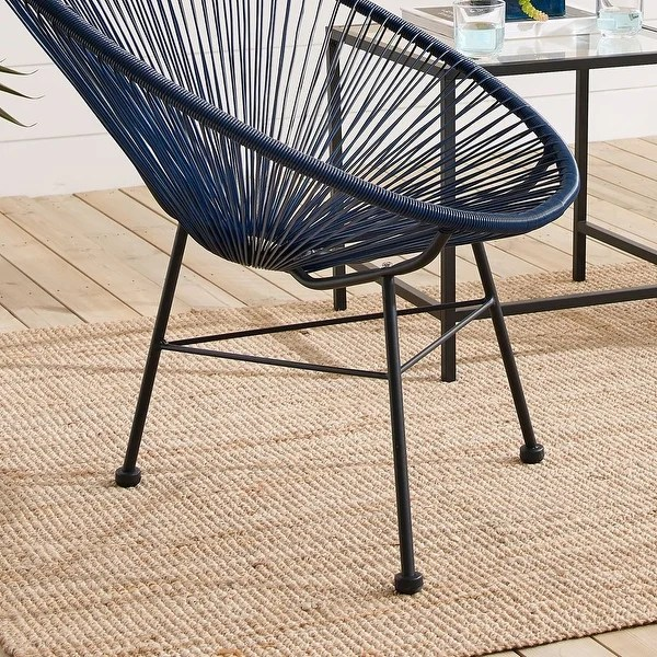 sarcelles modern wicker chairs set of