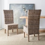 Safavieh Dining Rural Woven Quaker Unfinished Natural Wicker Dining Chairs Set Of 2 18 5 X 22 8 X 42 1 Overstock 7634032