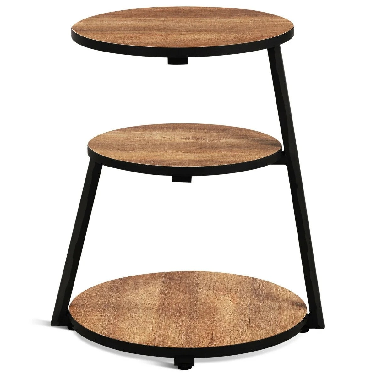 Shop Round 3 Tier Sofa Side Table Pictured On Sale Overstock 31808448