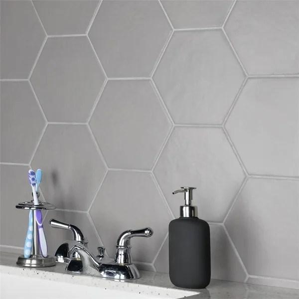 https www overstock com home garden somertile 7x8 inch hextile matte gris porcelain floor and wall tile 14 tiles 4 4 sqft 8448803 product html