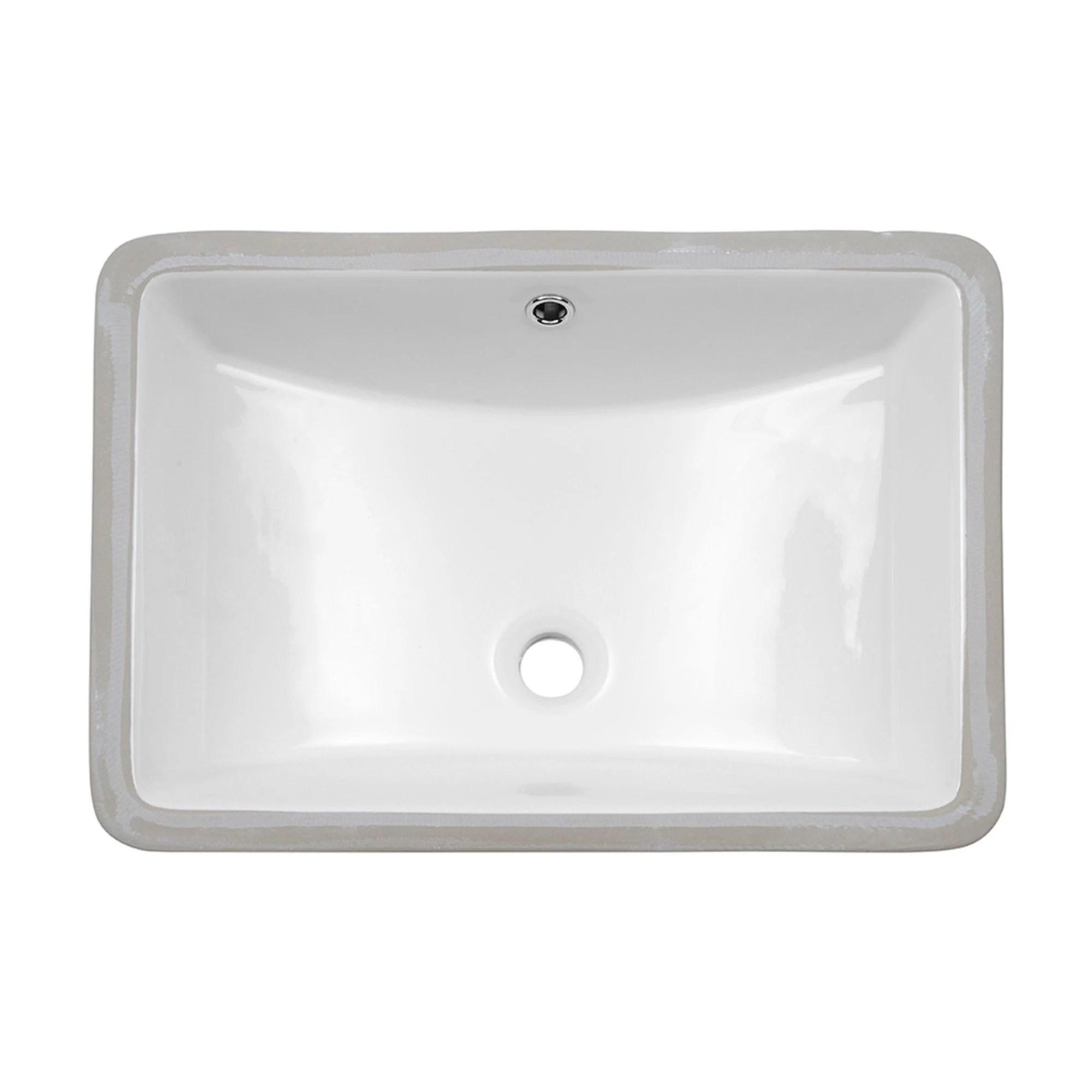 lordear 21 undermount vessel sink rectangle porcelain ceramic lavatory bathroom vanity sink 21 inch