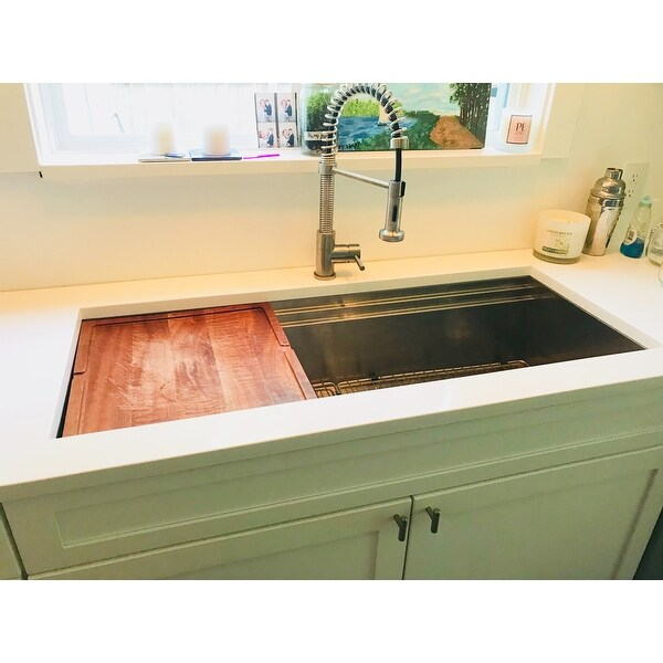 workstation ledge kitchen sink