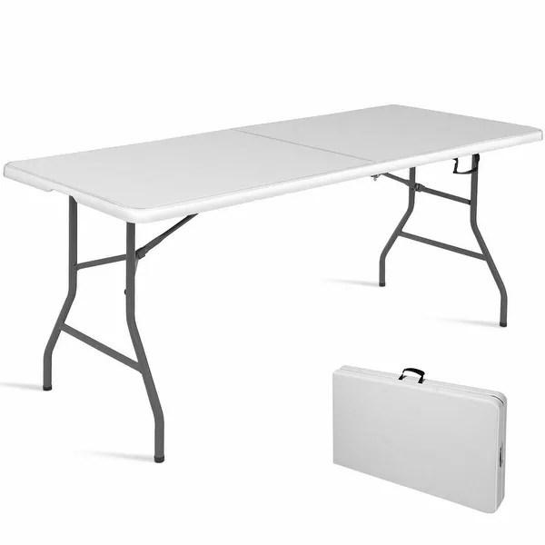 6 folding table portable plastic